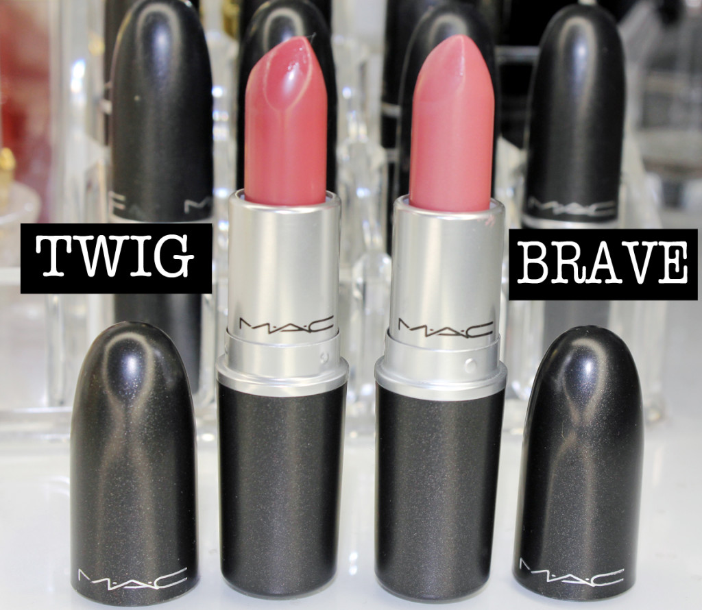 mac lips twig and brave