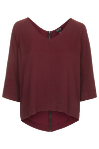 topshop red top