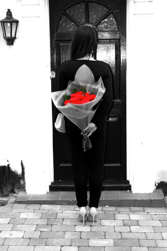 val day back rose BW red