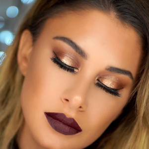 thanksgiving festive glam makeup tutorial