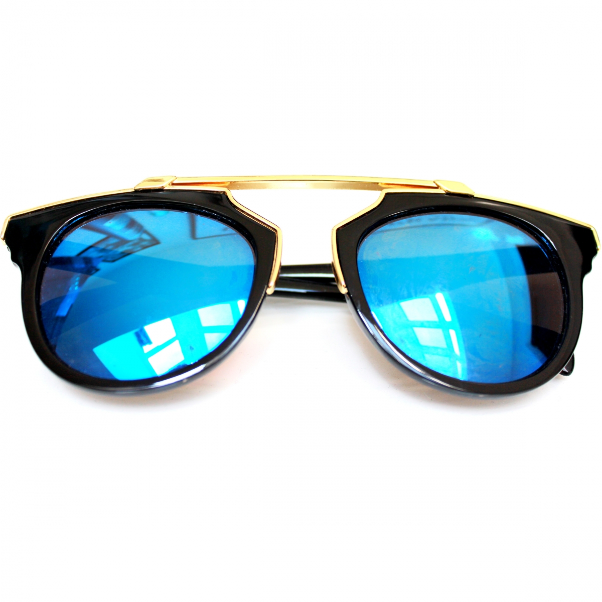 blue mirror glasses flat